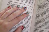 DIY papier nail wraps