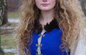 Middeleeuwse geïnspireerd, blauwe jurk