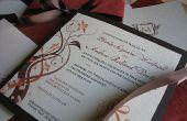 Elegante val gekleurde huwelijksuitnodigingen