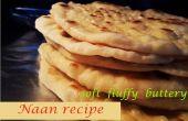 Naan recept - zachte pluizige boterachtige zelfgemaakte Naan