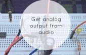 Analoge uitvoer van Audio signaal krijgen