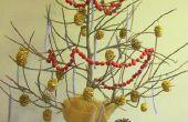 DIY Mini Xmas boom uit Palm stalken