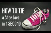Hoe te binden een schoen Lace in 1 tweede. Zeer snel!