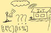 Controleren van de waarde van de temperatuur en de vochtigheid van uw website (Internet of Things consept)