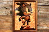 16-bits hout mozaïek - Sonic!