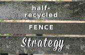Half gerecycleerd hek strategie