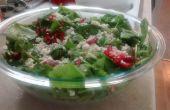 Salade van spinazie aardbei