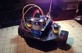 Eenvoudige Object ontwijkt robot met behulp van de Actobotics Runt Rover Peewee chassis en een Arduino
