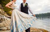 Handbeschilderd, Upcycled Wedding Dress