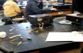 Elektromagnetische Accelerator Experiment + aluminium gieterij