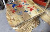 Pallet houten tafel met verborgen Cooler