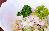 Gemakkelijke manier om te koken smakelijke aardappelsalade!