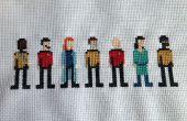 Star Trek Cross Stitch: De volgende generatie bemanning