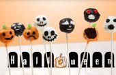 Halloween thema Brownie Cake Pops