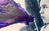 DIY waait paarse Crayon kunst! Met behulp van FIG paars!