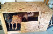 Houten hond clubhuis voor pluche Garage leven