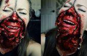 Rits gezicht Halloween Make-up Tutorial
