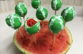 Watermeloen cake pops
