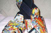 Mod Podge komische schoenen/sandalen