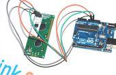 Met behulp van seriële UART 16 × 2 LCD op arduino