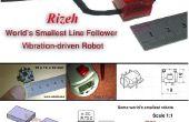 Hoe maak je's werelds kleinste lijn volgeling robot (robo Rizeh)