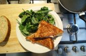 Snelle pittige spek gegrilde kaas