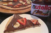 Nutella Dessert Pizza (deeg vanaf nul!)