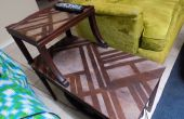 Art Deco geïnspireerde hout overspuiten behandeling