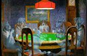 Ghost honden Playing poker (ghosting van elke afbeelding in een scène is hetzelfde)