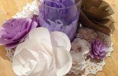 Cardstock papier bloemen