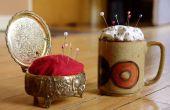 Een kussen van de Pin uit een Vintage sieraden doos of een kopje koffie te maken