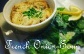 Franse uiensoep - een eenvoudige handleiding voor het maken van een enkele portie Franse uiensoep