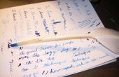 Maken van een echte veren schrijven quill