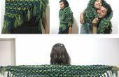 Krokodil steek omslagdoek – gratis gehaakt patroon