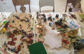 Boekenplank & vergrendelen van Lego tabel