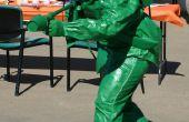 Kunststof groen speelgoed soldaat met Flamethrower kostuum