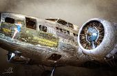 Vliegtuigen HDR foto verwerking