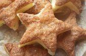 Kaneel suiker gebak Star Party Snacks.