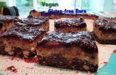Vegan blackberry karamel noga bars