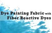 Kleurstof schilderij stof met Fiber reactieve kleurstoffen