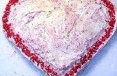 Eenvoudig Valentijnsdag hart taart