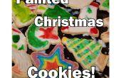 Vakantie/kerstkoekjes suiker geschilderd