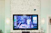 Mooie Buxus wandbekleding rond uw gemonteerde TV