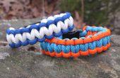 Hoe maak je een armband van twee kleuren Survival