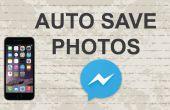 Opslaan van foto's van Facebook messenger app