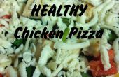 Snelle & eenvoudige gezonde kip Pizza!