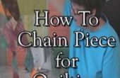 Quilten Basics: Chain naaien en druk op