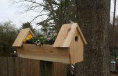 Ceder dubbele vogel huis planter