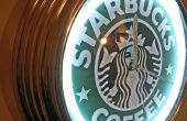 Veranderende thema van neon light - Starbucks