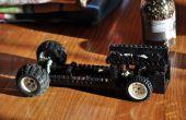 Lego auto met draaiende motor